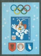 Germany, Olympic Winter Games Innsbruck 1976, MNH Imperforated Sheet, Cinderella - Winter 1976: Innsbruck