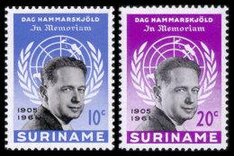 Surinam, 1962, UN Secretary General Dag Hammarskjold, MNH Set, Michel 413-414 - Surinam