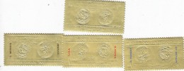 Oman 1968 Mexico Olymp.Gold Foil  4 Stamps Perf.MN Completre Set  Overprint On 3 Gold Winners-Scarce  Issue-skrill ONLY - Oman