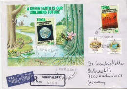 Postal History Cover: Superb Tonga R Cover With Green Earth SS - Crustaceans