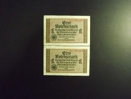 Allemagne 3ème Reich 2 Billets De 1 Mark 1938/1945 Neufs - [ 4] 1933-1945 : Third Reich