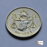 México - 25 Centavos - 1953 - Mexiko