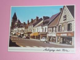 CP  18 Cher Aubigny Sur Nere  La Rue Prieure Citroen 2cv   4l ... - Aubigny Sur Nere