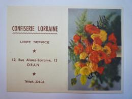 "Petit  CALENDRIER  1960  "" Confiserie  Lorraine ""  ORAN   XXX - Calendriers"