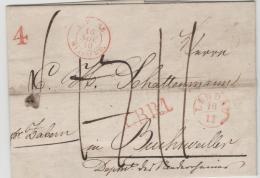 Bay111 /  BAYERN - London 1840 Nach Beaunviller (Elsass). Rayon 1, Taxe 4 - Duitsland