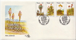 Transkei Set And SS On 2 FDCs - Cactusses