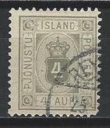 Island Official Stamps Mi D9 Used - Service