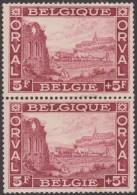 Belgique 1928 Y&T / COB 265. Abbaye D´Orval, 5 F. Moines Agriculteurs. Charrue, Vaches. Neuf Sans Charnière, MNH - Klöster