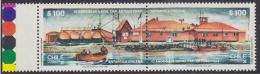Chile 1987 Antarctica Base Arturo Prat 2v Se Tenant ** Mnh (30300) - Chili