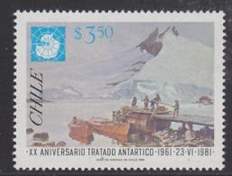 Chile 1981 Antarctica Antarctic Treaty 1v ** Mnh (30301) - Chili