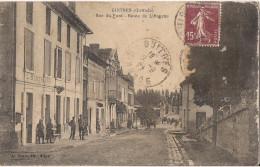 GUITRES RUE DU PONT ROUTE DE LIBOURNE CPA ANIMEE - Altri Comuni