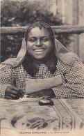 Afrique - Colonial - Missions -  Ecriture Encrier - Jeune Fille - Congo Français - Autres