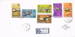 BR 775 SEYCHELLEN BRIEF REC YVERT NRS 279/284  ZIE SCAN - Seychelles (1976-...)
