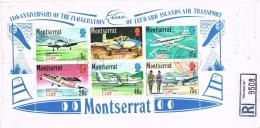 BR 781 MONTSERRAT BRIEVEN REC YVERT 268/273 + BL 2  ZIE SCANS - Montserrat