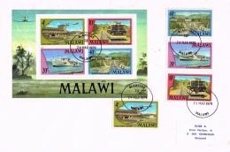 BR 786 MALAWI  YVERT NRS 287/290 + BL 48 ZIE SCAN - Malawi (1964-...)