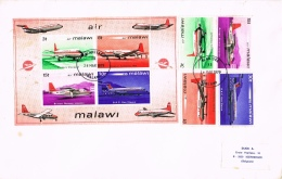 BR 787 MALAWI  YVERT NRS 178/181 + BL 26 ZIE SCAN - Malawi (1964-...)