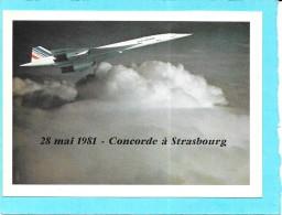 AVIATION  -  28 Mai 1981 - CONCORDE à STRASBOURG  - SM - - 1946-....: Era Moderna