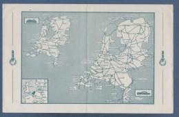 KAARTE ANVV VACANTIE IN HOLLAND / VISITEZ LA HOLLANDE / VACACIONES EN HOLANDA - AFSTANDTABEL IN KILOMETERS ... - 1952 - Andere