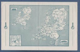 KAARTE ANVV VACANTIE IN HOLLAND / VISITEZ LA HOLLANDE / VACACIONES EN HOLANDA - AFSTANDTABEL IN KILOMETERS ... - 1952 - Kaarten
