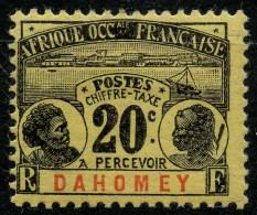 Dahomey (1906) Taxe N 4 * (charniere)