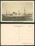 BARCOS SHIP BATEAU PAQUEBOT STEAMER [BARCOS #0355] - NAVIERA AZNAR S A - BILBAO - BUQUE-MOTOR MONTE URBASA - Paquebots