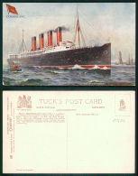 BARCOS SHIP BATEAU PAQUEBOT STEAMER [BARCOS #0408] - CUNARD R.M.S. RMS - MAURETANIA  OILETTE TUCK'S - Piroscafi