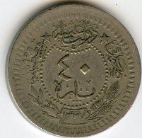 Turquie Turkey 40 Para 1327 / 8 - 1916 El Ghazi KM 779 - Türkei