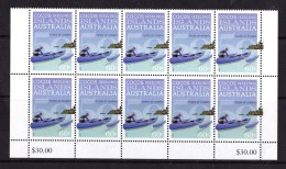 Cocos Islands 2013 50 Years Of Stamps 60c Block Of 10 MNH - Islas Cocos (Keeling)