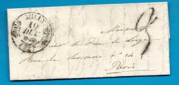Seine Et Oise - Milly Pour Le Duc De LORGE à Paris. Cachet à Date Double Fleurons. 1838 - Marcofilie (Brieven)
