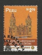 E)1998 PERU, RESTORATION OF THE CATHEDRAL OF LIMA CENT, 1186, A527, MNH - Peru