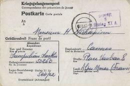 CARTOLINA POW CAMP STALAG XI-A ALTENGRABOW GERMANIA 1942 CANNES FRANCE - 1900-44 Victor Emmanuel III.