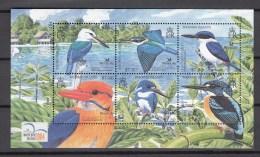 Solomon Islands 2004,6V In Block,kingfisher,ijsvogel,birds,vogels,vögel,oiseaux,pajaros,uccelli,aves,MNH/Postfris(L2394) - Unclassified