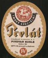 Tmavi Specialni Prelat (Czech), Beer Label From 60`s. - Beer
