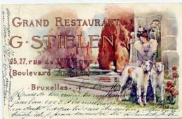 BRUXELLES - Grand Restaurant G. STIELEN - Cafés, Hôtels, Restaurants