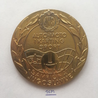 Medal / Plaque (Plakette) PL000033 - Automobile (Car) Karting Championship Of Yugoslavia GOLD MEDAL - Automobile - F1