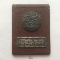 """Medal / Plaque (Plakette) PL000039 - Bicycle (cycling) """"Through Croatia & Slovenia"""" 1954-07-27 To 1954-08-01 - Cycling"""