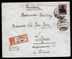 A4029) DR R-Internierten-Brief Von Copitz / Pirna 20.10.18 Nach Luzern / Schweiz - Deutschland