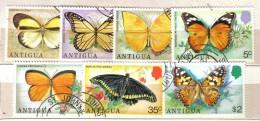 R676 - ANTIGUA , Serie N. 379/85 Used . Farfalle - Antigua E Barbuda (1981-...)