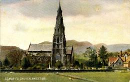 MISCELLANEOUS ART - ST MARY'S CHURCH, AMBLESIDE Art294 - Cumberland/ Westmorland