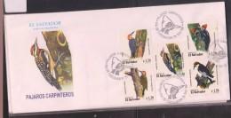O) 1999 EL SALVADOR, PICIDAE PICIFORME - BIRD, MELANERPES, SPHYRAPICUS, DRYOCOPUS, PICULUS, RUBIGINOSUS, FDC XF - El Salvador