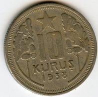 Turquie Turkey 10 Kurus 1938 KM 863 - Turquia