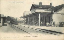 88 - Contrexéville - Gare - Chemin De Fer - Ligne Langres - Vittel - Nancy - Stazioni Senza Treni