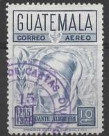 GUATEMALA 1969 Air. 700th Birth Anniv (1965) Of Dante - 10c Dante  FU - Guatemala