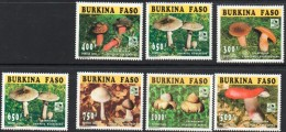 1996 Burkina Faso Mushrooms Scouts Fungi 7 Of 8 Values   MNH - Burkina Faso (1984-...)
