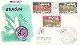 Monaco - FDC 6-6-1962 - Europa/CEPT - M 695-698 - 1962