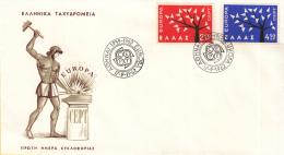 Griekenland - FDC 17-9-1962 - Europa/CEPT - M 796-797 - 1962