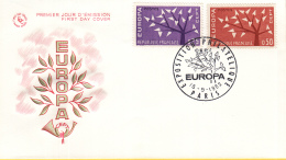 Frankrijk - FDC 15-9-1962 - Europa/CEPT - M 1411-1412 - 1962