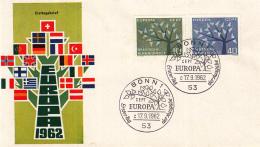 Duitsland - FDC 17-9-1962 - Europa/CEPT - M 383-384 - 1962