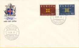 IJsland- FDC 16-9-1963 - Europa/CEPT - M 373-374 - Europa-CEPT