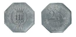 N2497 - Carcassonne: Union Des Commerçants: 25 Ct 1917 - Monétaires / De Nécessité